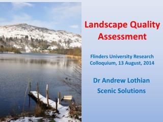 Landscape Quality  Assessment