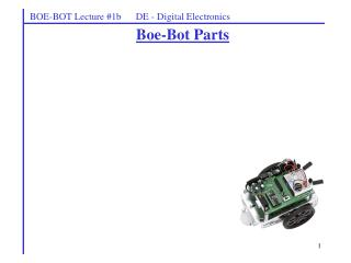 Boe-Bot Parts