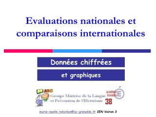 Evaluations nationales et comparaisons internationales