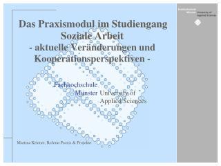 Martina Kriener, Referat Praxis & Projekte