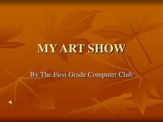 MY ART SHOW