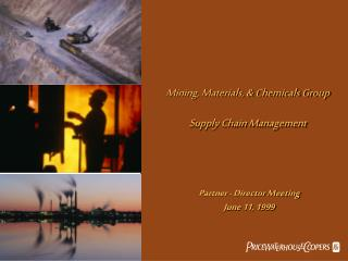 Mining, Materials, & Chemicals Group Supply Chain Management