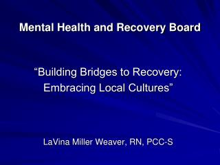 Mental Health and Recovery Board
