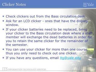 Clicker Notes