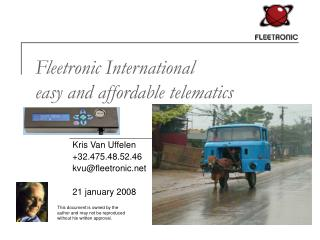 Fleetronic International easy and affordable telematics
