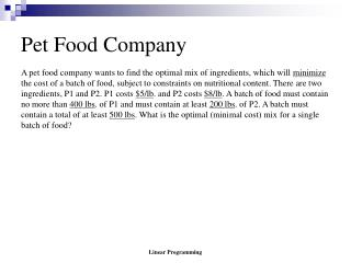 Pet Food Company