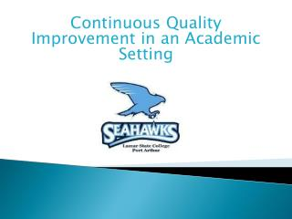 Continuous Quality Improvement in an Academic Setting