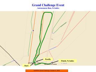 DAPRPA Grand Challenge, October 8, 2005