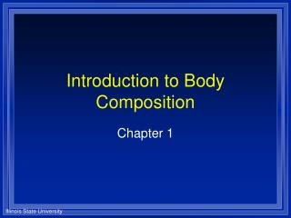 Introduction to Body Composition