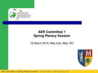 AER Committee 1 Spring Plenary Session  / 16 March 2010 / Alba Iulia, Alba, RO