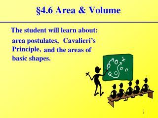 §4.6 Area & Volume