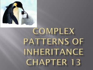 Complex patterns of inheritance Chapter 13