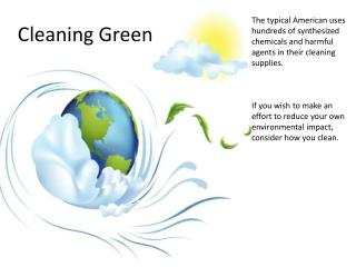 Green Cleaning Efforts in Your Everyday Life