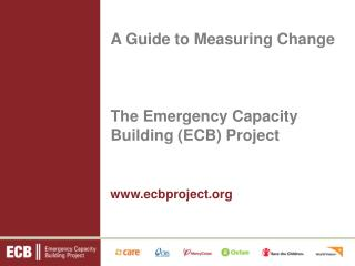 The Emergency Capacity Building (ECB) Project