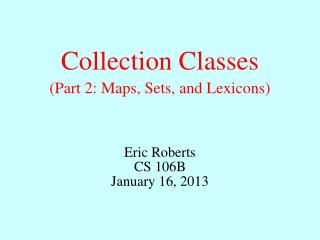 Collection Classes