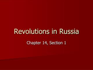 Revolutions in Russia