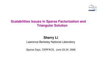 Scalabilities Issues in Sparse Factorization and Triangular Solution