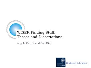 WISER Finding Stuff:  Theses and Dissertations