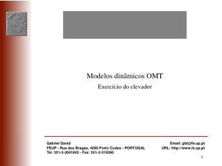 Modelos dinâmicos OMT Exercício do elevador