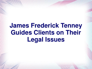 James Frederick Tenney
