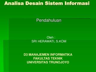 Analisa Desain Sistem Informasi