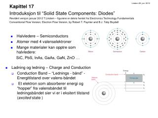 Halvledere – Semiconductors Atomer med 4 valenselektroner