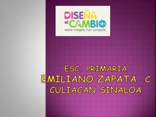 ESC. PRIMARIA  EMILIANO ZAPATA   C Culiacán Sinaloa