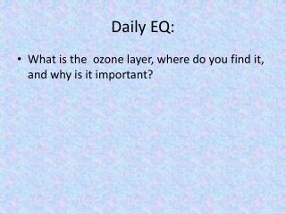 Daily EQ: