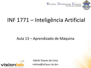 INF 1771 �  Intelig�ncia  Artificial