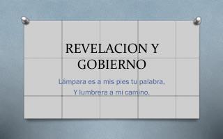 REVELACION Y GOBIERNO
