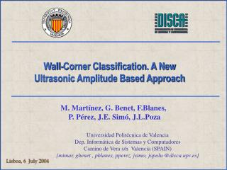 Wall-Corner Classification. A New Ultrasonic Amplitude Based Approach