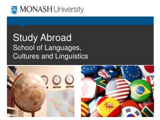 Study Abroad  School of Languages, Cultures and Linguistics