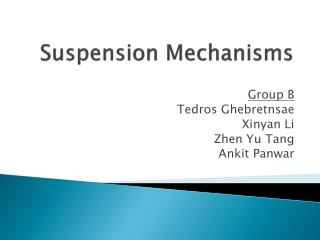 Suspension Mechanisms