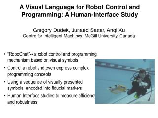 A Visual Language for Robot Control and Programming: A Human-Interface Study