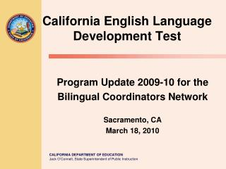 California English Language  Development Test