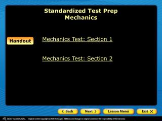 Standardized Test Prep Mechanics
