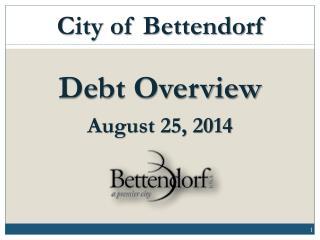 Debt Overview August 25, 2014