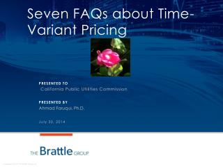 Seven FAQs about Time-Variant  Pricing