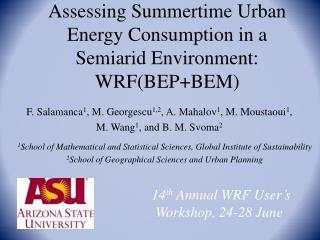 Assessing Summertime Urban Energy Consumption in a Semiarid Environment:  WRF(BEP+BEM)