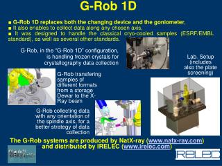 ■  G-Rob 1D replaces both the changing device and the goniometer ,