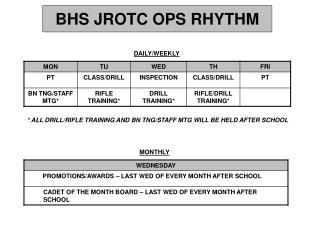 BHS JROTC OPS RHYTHM