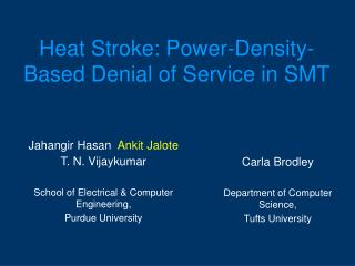 Heat Stroke: Power-Density-Based Denial of Service in SMT