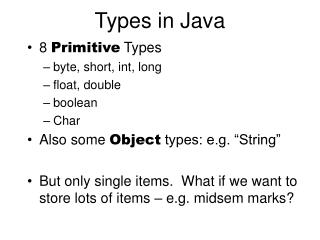 Types in Java
