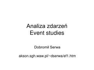 Analiza zdarzeń Event studies