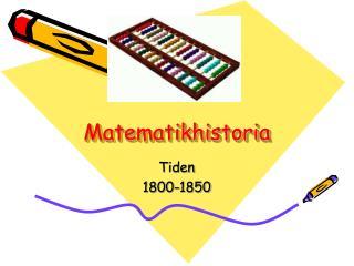 Matematikhistoria