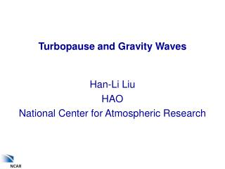 Turbopause and Gravity Waves