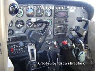 Cessna 172 Weight and Balance