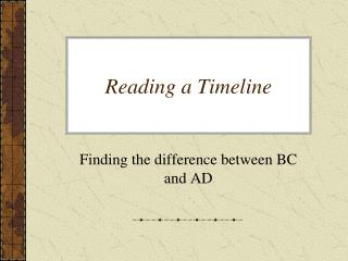 Reading a Timeline