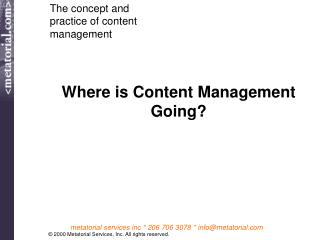 Where is Content Management Going?