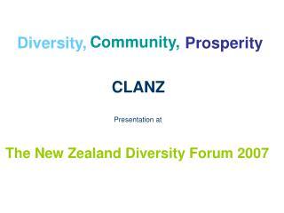 The New Zealand Diversity Forum 2007